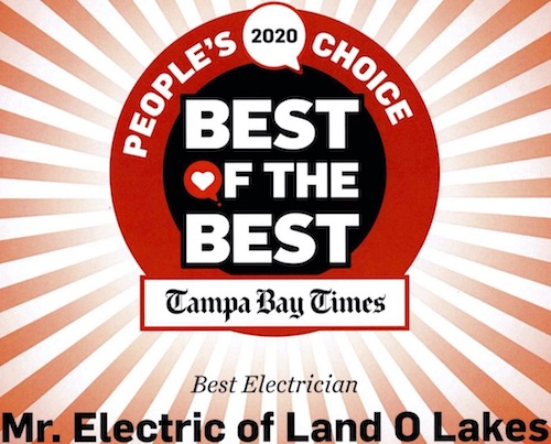 Mr. Electric of Land O' Lakes, winner of the 2020 Best of the Best People's Choice Award