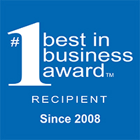 The number one best in business award recipient since 2008