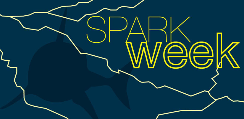 "Graphic with title ""Shark Week is Spark Week at Mr. Electric"""