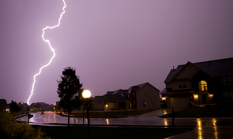 Picture of a lighting strike