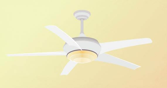 A ceiling fan installed by the professional electricians at Mr. Electric.