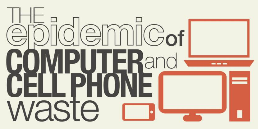 "Graphic with title ""The Epidemic of Cell Phone and Computer Waste"""