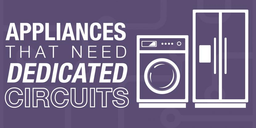 Purple background with a washer and fridge icon