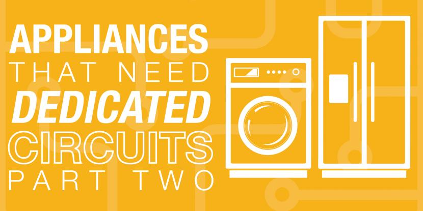 Yellow background with a washer and fridge icon