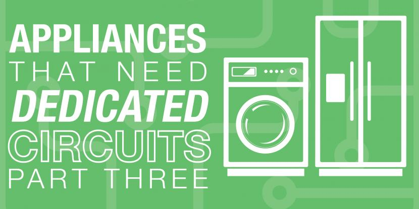 Green background with a washer and fridge icon