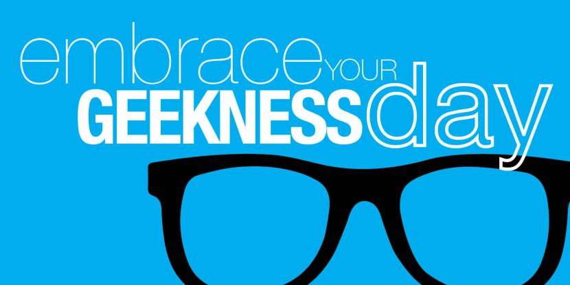 "Graphic with title ""Embrace your Geekiness"""