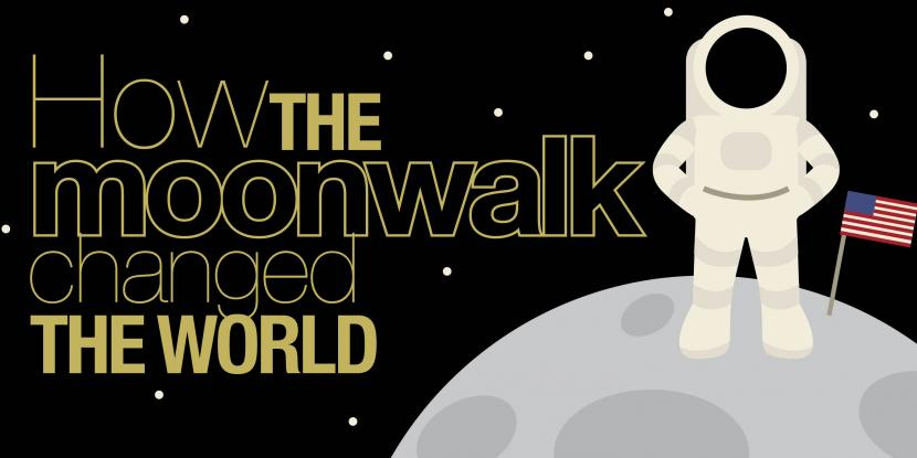 how the moonwalk changed the world with an astronaut standing on top of the moon