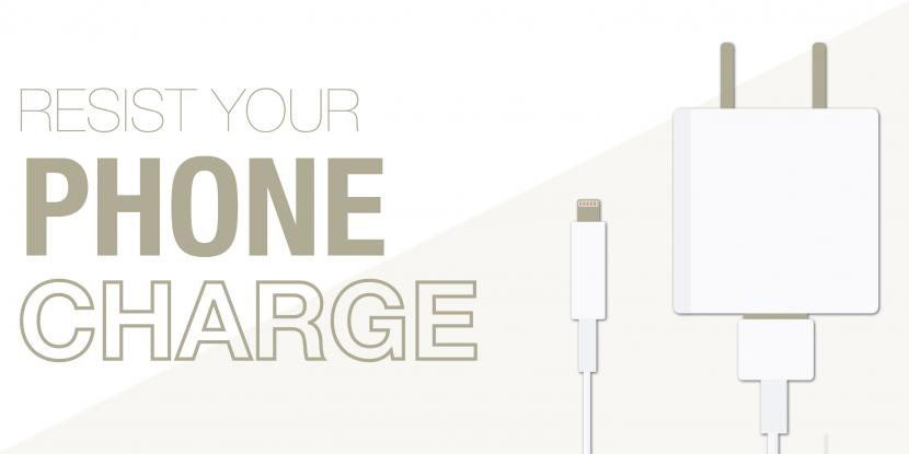 A picture of a white iPhone charger