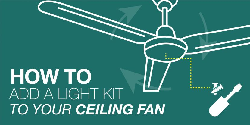How to add a light kit to your ceiling fan mr electric aloadofball Gallery