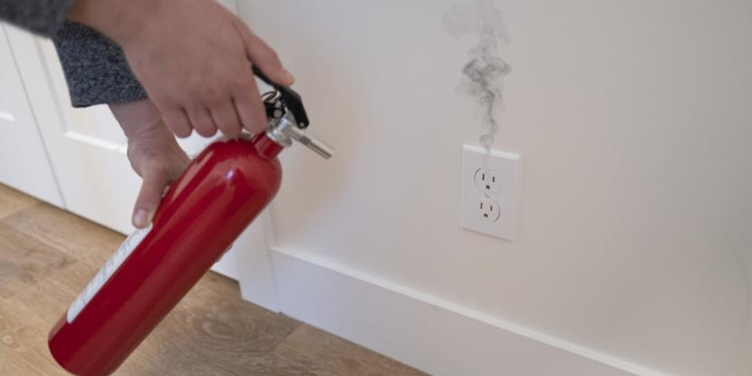 Smoking Electrical Outlet