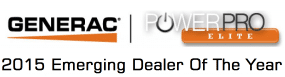 2015 Emerging Dealer - Generac Power Pro Elite Logo